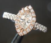 0.38ct G SI1 Marquise Diamond Ring R6705