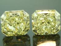SOLD.......Yellow Diamond Earrings: 1.39ctw Fancy Yellow Radiant Cut Diamond Earrings GIA R6756