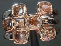 SOLD.......Brown Diamond Ring: 1.69ctw Fancy Orange Brown SI1 Cushion Cut Diamond Ring R6723