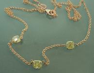 SOLD....Diamond Necklace: .74ctw Natural Yellow Three Stone Diamond Necklace R6706