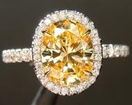 SOLD... 1.49ct Fancy Intense Yellow VVS1 Oval Diamond Ring GIA R6771