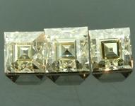 SOLD....2.68ctw M VS1-SI1 Carre Cut Three Diamond Parcel R6713