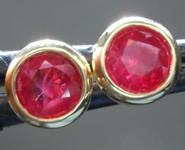 SOLD...Ruby Earrings: 1.21ctw Round Brilliant Ruby Stud Earrings R6807