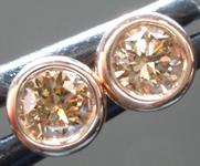 SOLD......Brown Diamond Earrings: .47ctw Fancy Brown SI Round Brilliant Diamond Stud Earrings R6795