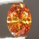 SOLD....0.35ct Deep Brownish Yellowish Orange I1 Oval Diamond R6839
