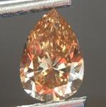 0.90ct Brown-Orange SI1 Pear Diamond R6844