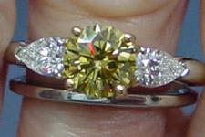 SOLD....Ring- GIA 1.05 Round Chameleon Diamond Ring NF436