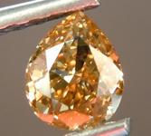 SOLD....Loose Diamond: .53ct Fancy Brown-Orange VS2 Pear Shape Diamond GIA R6852