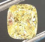 0.50ct Intense Yellow SI1 Cushion Cut Diamond R6891