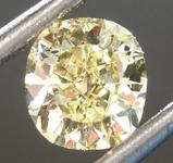 0.54ct Fancy Yellow VVS1 Cushion Cut Diamond R6890