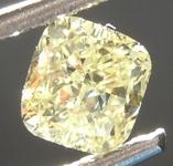 0.69ct Fancy Yellow VS2 Cushion Cut Diamond R6870