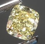 SOLD.........Loose Yellow Diamond: .51ct Fancy Intense Yellow Internally Flawless Cushion Modified Brilliant Diamond GIA R6865