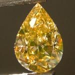 SOLD....Loose Diamond: .83ct Fancy Brownish Orangy Yellow SI1 Pear Shape Diamond GIA R6845