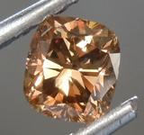 SOLD.......Loose Brown Diamond: .57ct Fancy Orange-Brown SI1 Cushion Cut Diamond GIA R6854