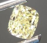 SOLD........Loose Yellow Diamond: .51ct Fancy Yellow VVS1 Cushion Cut Diamond GIA R6879