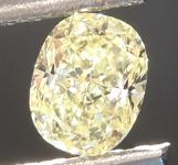 SOLD....Loose Yellow Diamond: .59ct Fancy Light Yellow VVS2 Cushion Cut Diamond GIA R6885