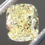 0.61ct Fancy Yellow VS2 Cushion Cut Diamond R6882