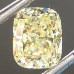 SOLD....Loose Yellow Diamond: .64ct Fancy Yellow VS1 Cushion Modified Brilliant Diamond GIA R6871