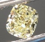 SOLD....Loose Yellow Diamond: .54ct Fancy Light Yellow VVS2 Cushion Cut Diamond GIA R6872