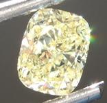 0.64ct Fancy Yellow SI2 Cushion Cut Diamond R6881