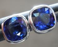 SOLD......1.70ctw Blue Cushion Cut Sapphire Earrings R6825