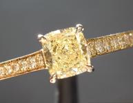.52ct Fancy Yellow SI1 Cushion Cut Diamond Ring R6880