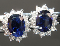 SOLD...1.70cts Blue Oval Sapphire Earrings R6805