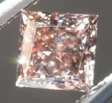 Loose Brown Diamond: .45ct Fancy Pink Brown VS1 Princess Cut Diamond GIA R6984