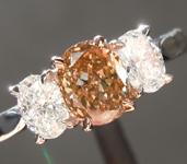 0.60ct Yellow-Brown SI1 Oval Diamond Ring R6798