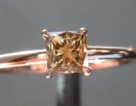 0.51ct Brownish Yellow VS1 Princess Cut Diamond Ring R6945