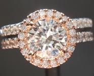 SOLD......Wedding Set: .95ct H VS2 Round Brilliant Diamond Halo Wedding Set GIA R5256