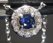 SOLD...0.26ct Blue Round Brilliant Sapphire Necklace R6791