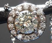 Diamond Pendant: .65ct L I1 Round Brilliant Diamond Halo Pendant R6792