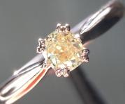 .31ct Light Yellow SI1 Cushion Cut Diamond Ring R6971