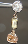 SOLD...Diamond Pendant: .69ctw Natural Multi-Colored Diamond Pendant R6936