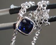 0.80ct Blue Cushion Cut Sapphire Necklace R6673