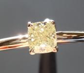 .32ct Fancy Yellow SI1 Cushion Cut Diamond Ring R6969