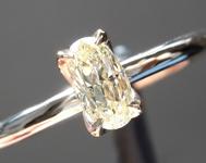 SOLD.......Yellow Diamond Ring: .41ct Fancy Light Yellow VS1 Oval Diamond Ring R6963