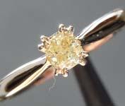 .31ct Light Yellow SI1 Cushion Cut Diamond Ring R6972