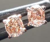 SOLD........Brown Diamond Earrings: .36ctw Fancy Orangy Brown SI1 Oval Diamond Earrings R7012