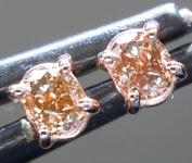 SOLD...Brown Diamond Earrings: .27ctw Fancy Orangy Brown SI2 Oval Diamond Earrings R7010