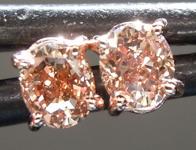 SOLD....Brown Diamond Earrings: .33ctw Fancy Orangy Brown VS2 Oval Diamond Earrings R7008