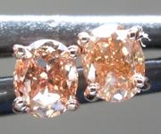 SOLD...Brown Diamond Earrings: .46ctw Fancy Orangy Brown SI1 Oval Diamond Earrings R7007