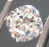 SOLD....Loose Colorless Diamond: .31ct J VVS2 Cushion Cut Diamond GIA R6824