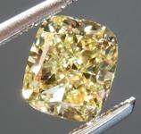 SOLD.....Loose Yellow Diamond: 1.11ct Fancy Yellow VVS2 Cushion Modified Brilliant Diamond GIA R7040