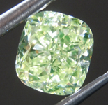 SOLD.....Loose Green Diamond: .91ct Fancy Green Yellow VS1 Cushion KYRPTONITE Diamond GIA R7045