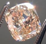 SOLD.. Loose Brown Diamond: 1.34ct Fancy Yellow-Brown VVS1 Cushion Cut Diamond GIA R7064