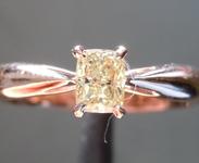 .32ct Light Yellow SI2 Cushion Cut Diamond Ring R6968