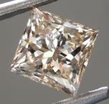 Loose Brown Diamond: 1.04ct U-V. Light Brown I1 Princess Cut Diamond GIA R7071