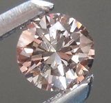 SOLD.......Loose Pink Diamond: .16ct Fancy Light Pink VS2 Round Brilliant Diamond R6605